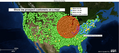 Show business lists on a map